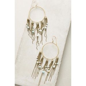 Anthropologie Lena Bernard Azalea Hoop Earrings